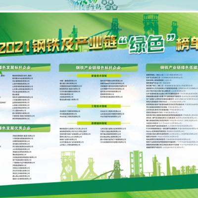 """绿色榜单发布!泰尔股份荣登""""钢铁产业链绿色标杆企业""""榜单!"""